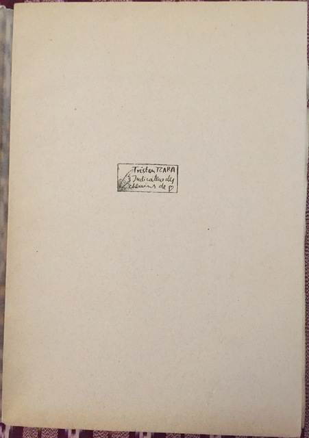 Tristan Tzara, 'Indicateur des Chemins de Coeur', 1928, Wallector