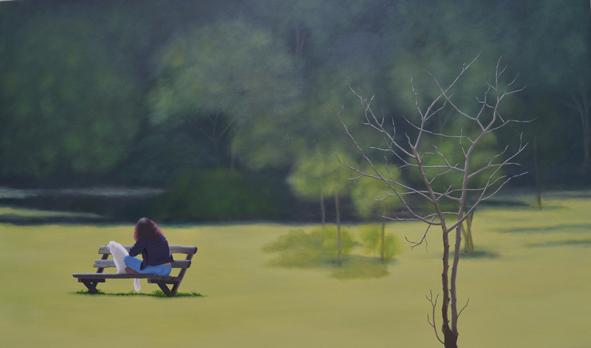 , 'Moça no parque Villa Lobos,' 2015, dconcept escritório de arte