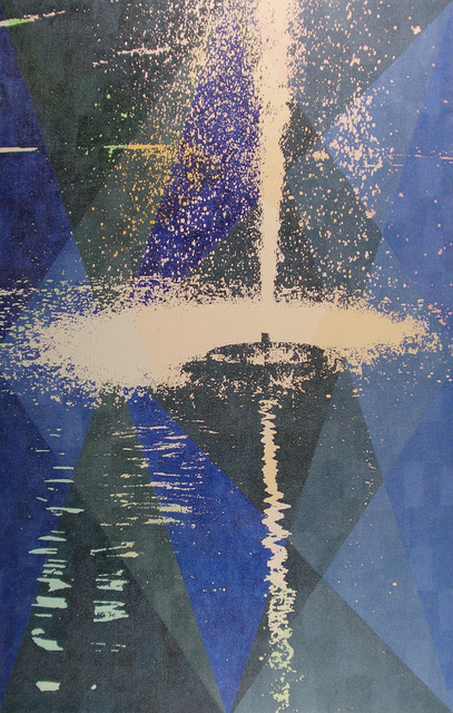 , 'Static Image Painting/Blue/Fountain/Moose Jaw,' 2007, Wilding Cran Gallery