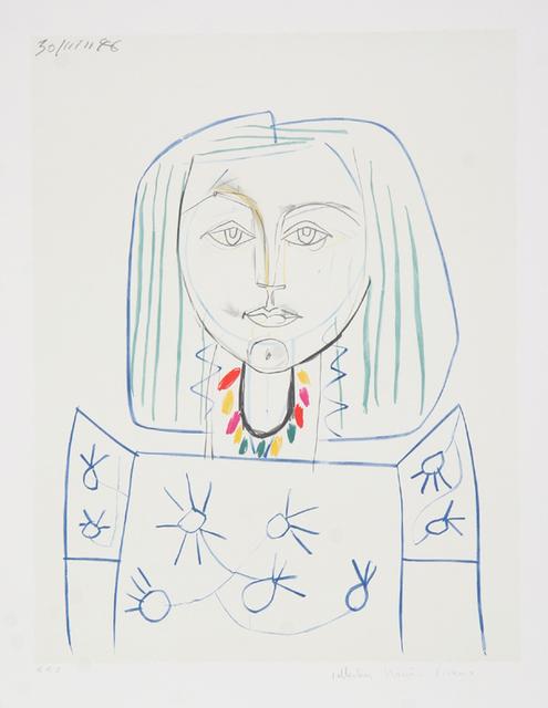 Pablo Picasso, 'Portrait de Femme au Collier, 1946', 1979-1982, Print, Lithograph on Arches paper, RoGallery
