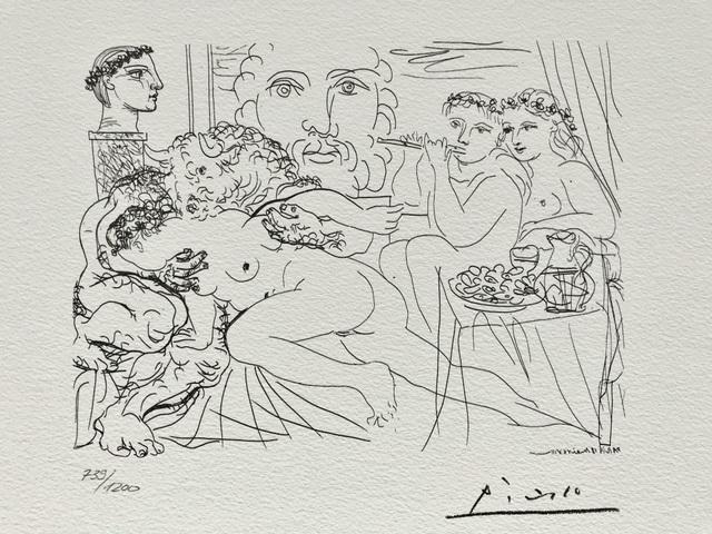 Pablo Picasso, 'Minotaure caressant une femme (Suite Vollard Planche LXXXIV)', 1973, ByNewArt