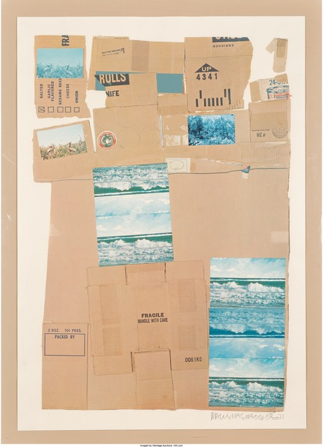 Robert Rauschenberg, 'General Delivery', 1971, Print, Screenprint and offset lithograph in colors with collage, Heritage Auctions
