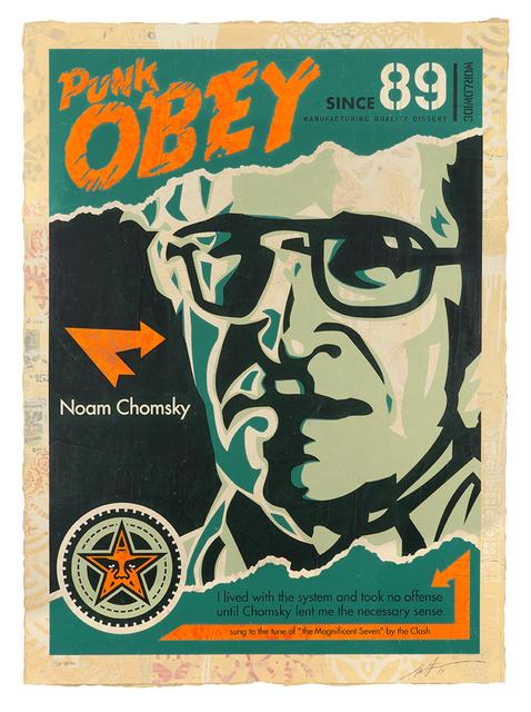 Shepard Fairey, 'Chomsky', 2019, Samuel Owen Gallery