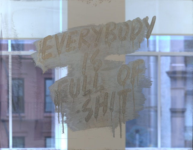 Mel Bochner, 'Everybody Is Full of Shit', 2018, Print, Etched and silvered glass, Two Palms