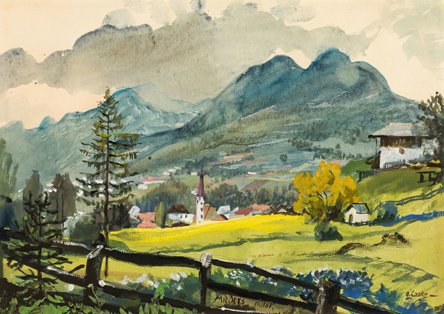 , 'Mieders im Stubaital,' ca. 1925, Galerie Kovacek