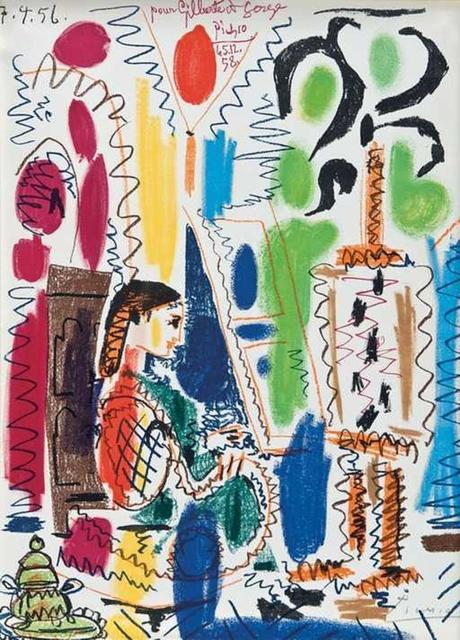 Pablo Picasso, 'L'Atelier de Cannes', 1956, Print, Lithograph on Arches paper, Tanya Baxter Contemporary