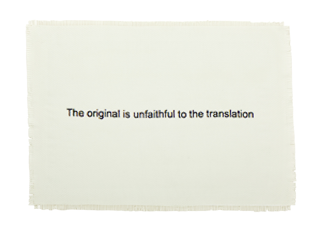 , 'The Original is Unfaithful to the Translation,' 2015, WHATIFTHEWORLD