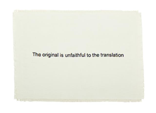 , 'The Original is Unfaithful to the Translation,' 2015, WHATIFTHEWORLD