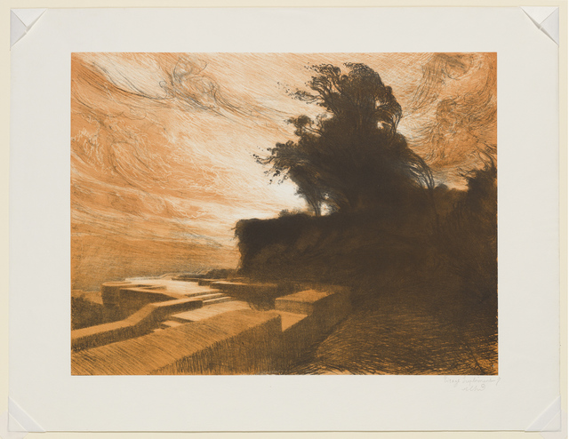, 'The Wind, plate 4 from the portfolio Suite of Landscapes,' 1892-1893, Clark Art Institute