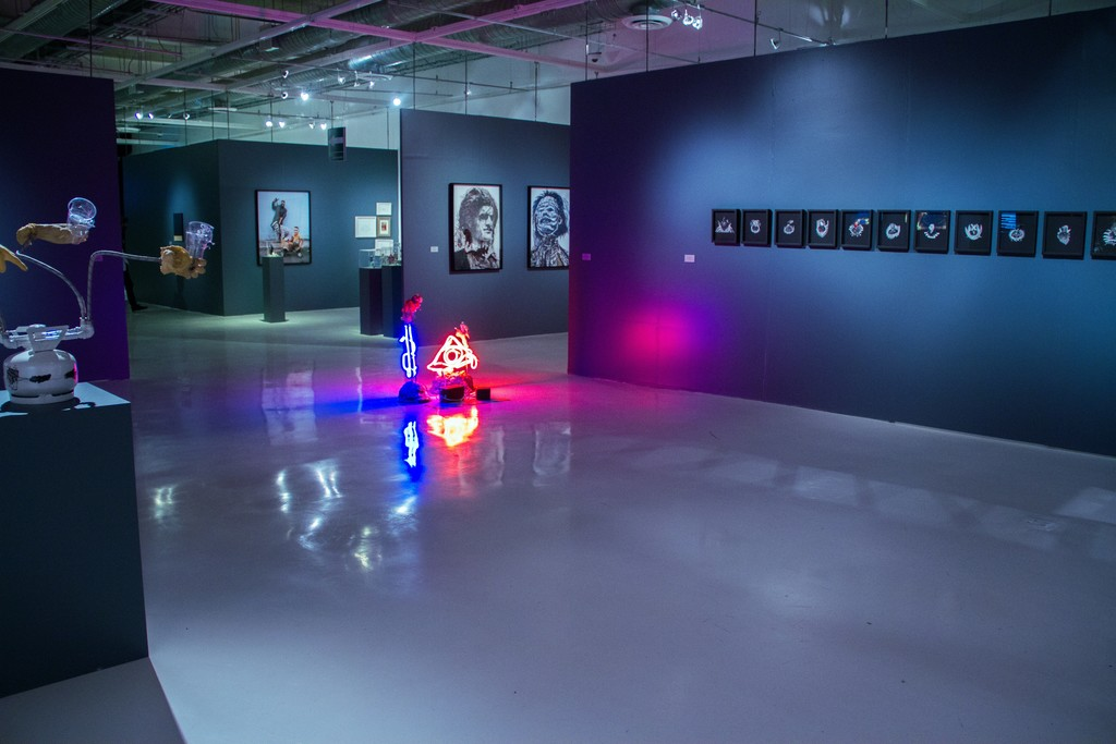 "Installation view of ""Horror en el Trópico"" (2015). Museo Universitario del Chopo"