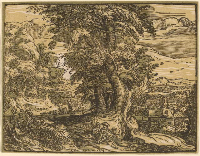 Hendrik Goltzius, 'Landscape with a Seated Couple', probably 1592/1595, National Gallery of Art, Washington, D.C.