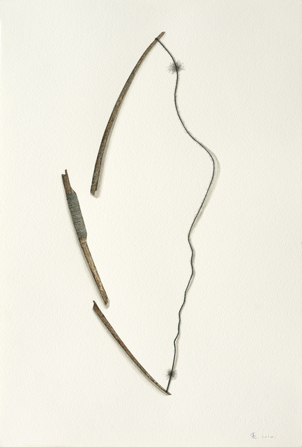 , 'Broken Bow string,' 2014, Aki Gallery