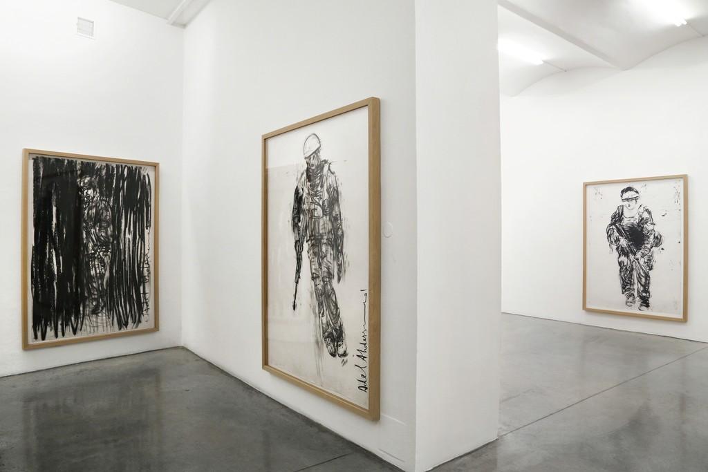Adel Abdessemed Installation view Soldaten, 2015
