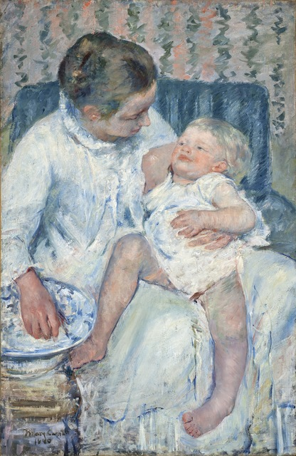 Mary Cassatt, 'Mother About to Wash Her Sleepy Child', 1880, Los Angeles County Museum of Art