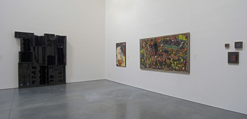 "Installation view of the permanent collection gallery ""Material World."" Parrish Art Museum. Water Mill, NY."