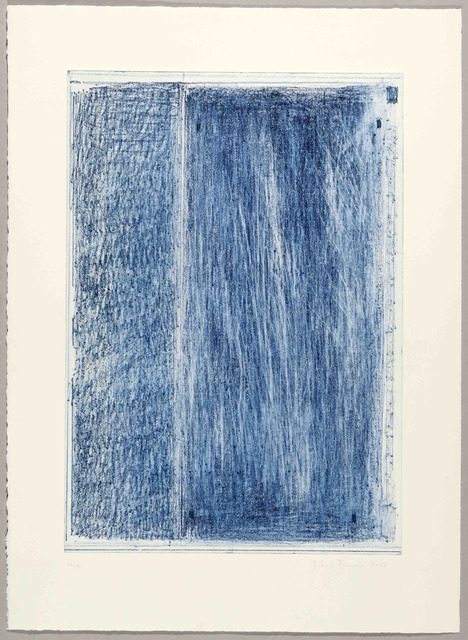 John Zurier, 'October 1 (Blue)', 2017, Print, Soft ground etching, drypoint, scraping, burnishing, BORCH