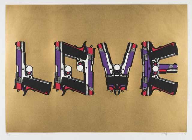 Paul Insect, 'Love Guns on Gold', 2007, Forum Auctions