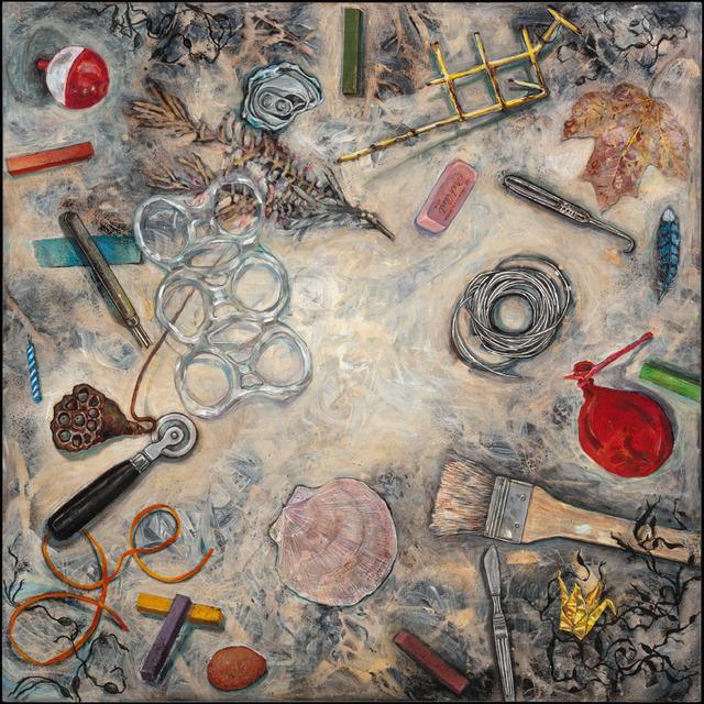 Elli Crocker, 'Midden VII, Pink Pearl', 2012, Mixed Media, Mixed media on clayboard, Clark Gallery