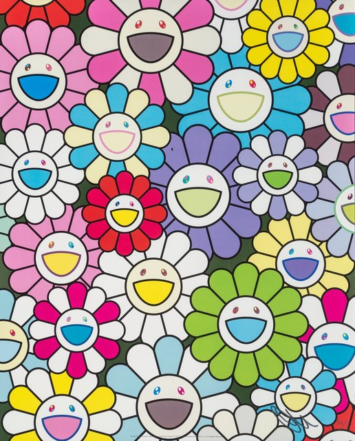 Takashi Murakami, 'A Little Flower Painting: Yellow, White, and Purple Flowers', 2017, Heritage Auctions