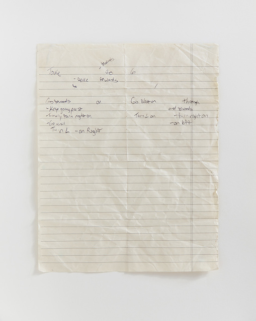 , 'Note for Wanderer,' 2014, Taik Persons