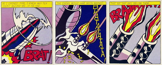 Roy Lichtenstein, 'As I Opened Fire (Triptych)', 1997, MSP Modern