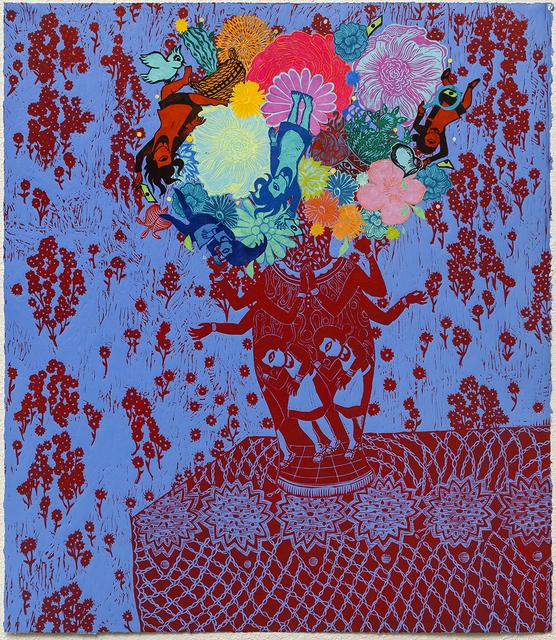 , 'Flourish (Red Blue),' 2018, Remarque Printshop