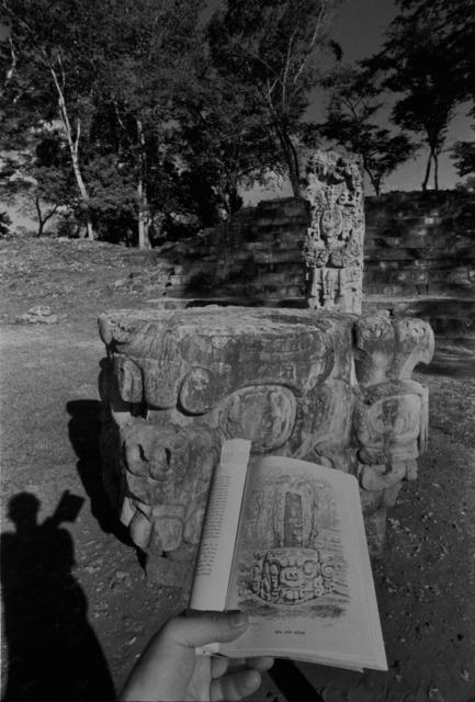 Leandro Katz, 'Copán—Idol D and Altar, with shadow', 1988, Herlitzka + Faria