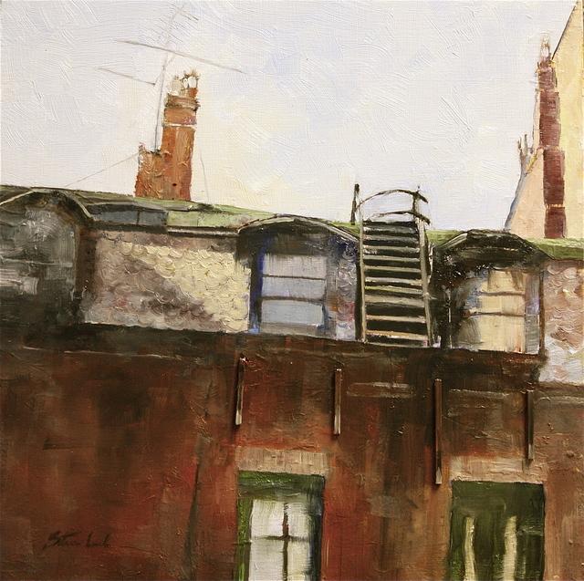 , 'Newbury Street Roof Boston,' 2016, Bowersock Gallery