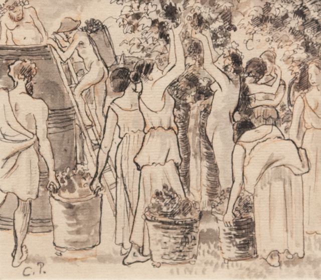 Camille Pissarro, 'Daphnis and Chloë (Vendange)', 1885, Artrust