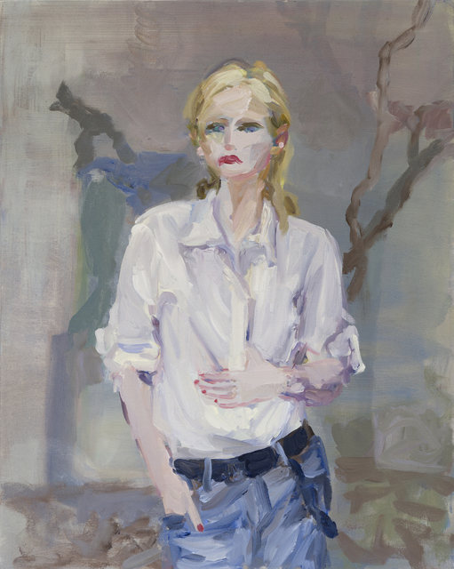 , 'Girl with White Shirt in Grey Landscape,' 2018, VIVIANEART