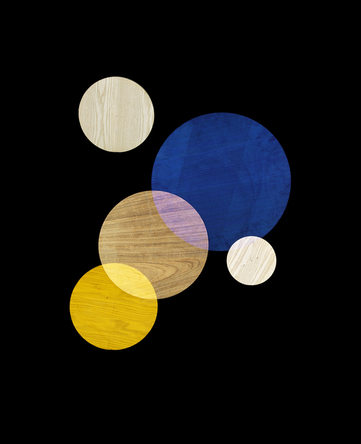 , 'Blue, Yellow, White Circles #2 (from Circle Studies),' 2017, LaCa Projects