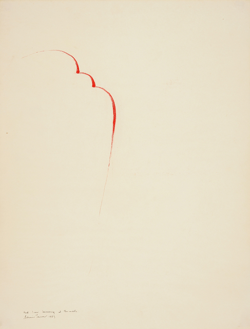 , 'Red Line Bouncing at the Middle,' 1967, Charles Nodrum Gallery