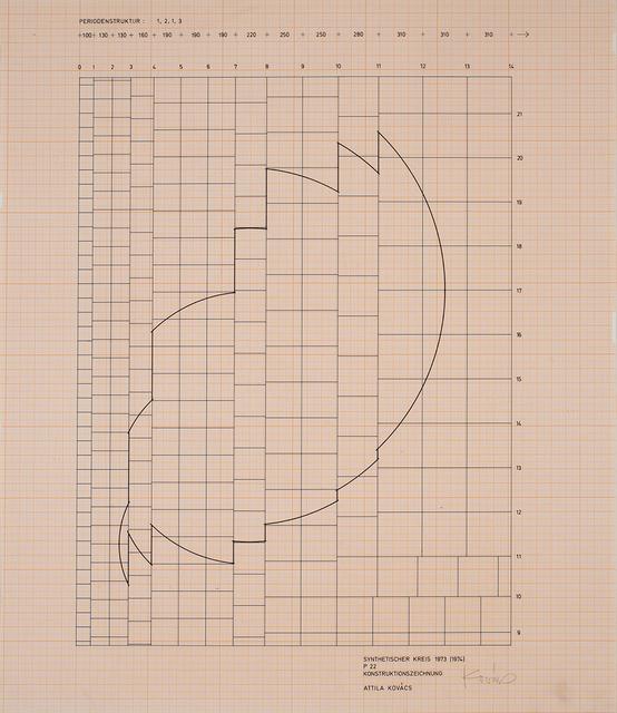 , 'synthetischer kreis 1973 p22 ,' 1974, VILTIN Gallery