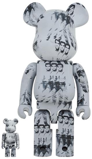 BE@RBRICK, 'Bearbrick Andy Warhol's Elvis Presley 100% & 400% Set', 2001-2020, Sculpture, Plastic, PVC, 2B Art & Toys