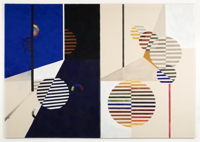 Tuomas Korkalo, 'Leikin varjolla – Leikin valolla, (diptych)', 2019, Mixed Media, Watercolour, sumi-ink and acrylic on canvas, BBA Gallery