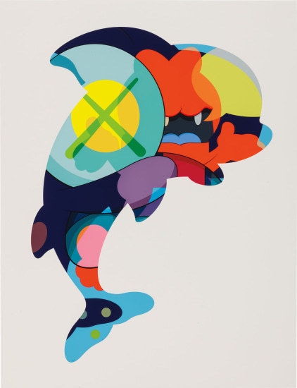 KAWS, 'Piranhas When You're Sleeping', 2016, Print, Silkscreen on paper, Pop Fine Art