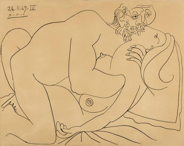 Pablo Picasso, 'Couple Nu, nos. 26.11.69, nos. IV', 1972, Print, Lithograph, Forum Auctions