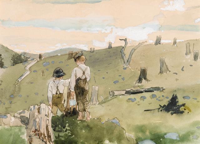 , 'Boys on a Hillside,' 1879, Hirschl & Adler Galleries