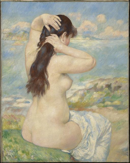 Pierre-Auguste Renoir, 'Bather Arranging Her Hair', 1885, Clark Art Institute