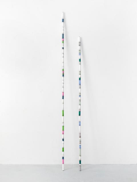 Alicja Kwade, 'Candle Column (Alicja & Gregor)', 2018, Sculpture, Bronze, lacquer, 2 parts, KÖNIG GALERIE