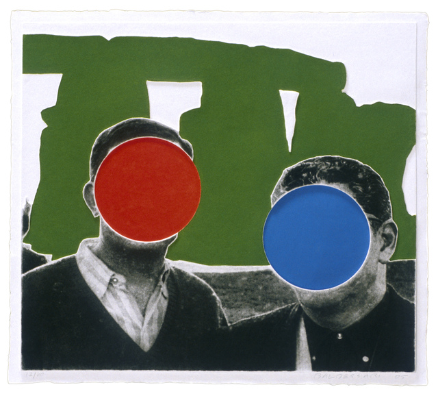 , 'Stonehenge (With Two Persons) Green,' 2005, Mixografia
