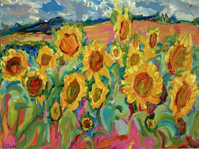 , 'Sunflowers - Lavoute Chilhac,' 2017, Clarendon Fine Art