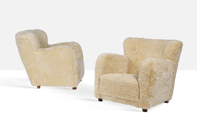 Attributed to Flemming Lassen, 'Pair of large armchairs', Circa 1940, Aguttes
