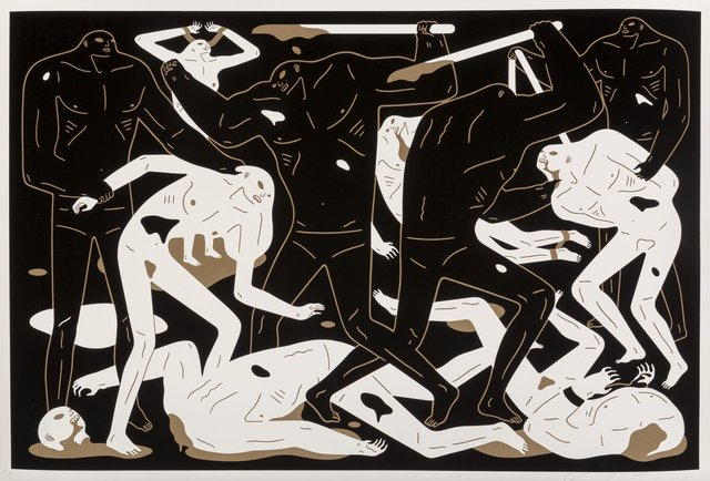 Cleon Peterson, 'Between Man & God (Black)', 2018, Print, Screenprint in colors on Coventry Rag paper, Heritage Auctions