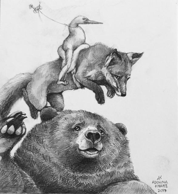 , 'Bear, Fox, Crane,' 2017, Visions West Contemporary