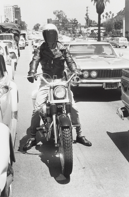 ", '""Untitled (Motorcycle and Rider)"" from Los Angeles,' 1964, de Young Museum"