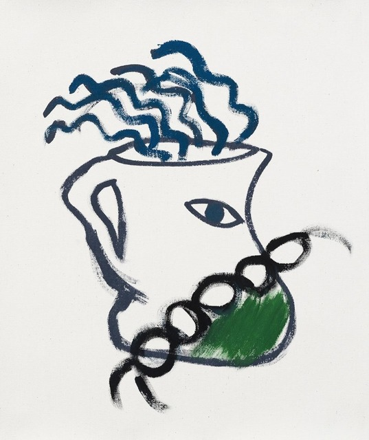 , 'jarra cadena y verde,' 2015, Otero