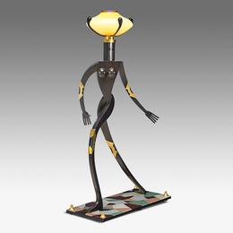 Fine and tall Female Figurative Floor Lamp, edition of six, Kensington, NH