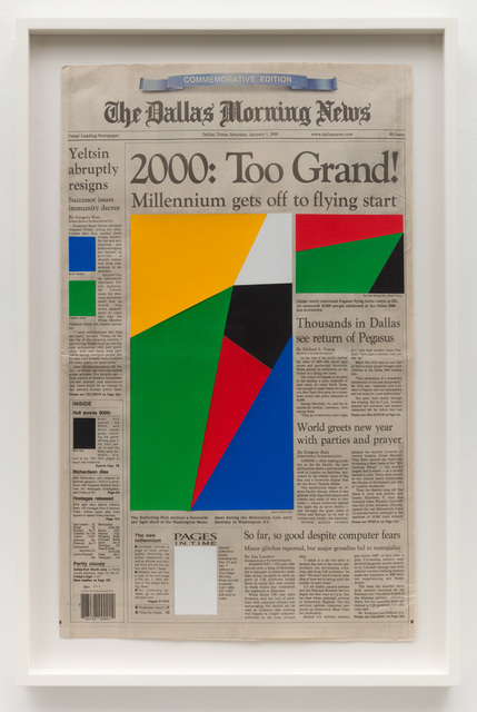 Marine Hugonnier, 'Art for Modern Architecture Dallas Morning News – The Millenium – January 1st, 2000', 2011, Meliksetian | Briggs