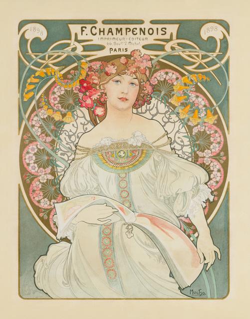 Alphonse Mucha, 'Reverie', 1897, Print, Color lithography, Christopher-Clark Fine Art